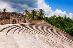 Amfiteatr w antycznej wiosce Alt De Chavon - Fotografia Stock