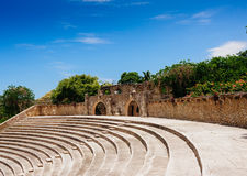 Amfiteatr w antycznej wiosce Alt De Chavon - Zdjęcia Stock