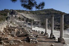 Amfiteatr w antycznym ephesus, indyk Fotografia Royalty Free