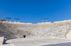 Amfiteatr wczesna Chrześcijańska bazylika w antycznym miasteczku Kour zdjęcie royalty free