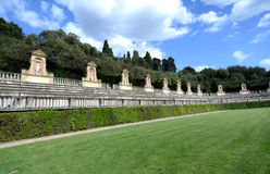 Amfiteatro dans des jardins de Boboli, Florence   Photo stock
