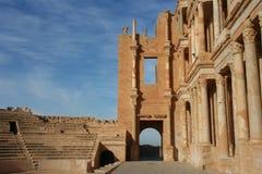 amfiteatru Libya sabratha Obrazy Royalty Free