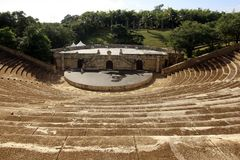 Amfitheater in Altos DE Chavon Stock Foto's