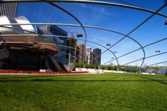 Amfitheater bij Park Millineum in Chicago. Royalty-vrije Stock Afbeeldingen