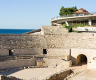 Amfitheater. De Roman ruïnes in Spanje Royalty-vrije Stock Afbeeldingen