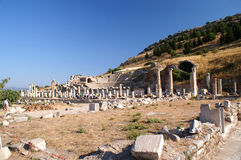Amfitheater in Ephesus Stock Foto's