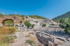 Amfitheater in Ephesus, Turkije Royalty-vrije Stock Foto's