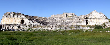 Amfitheater in Milet Royalty-vrije Stock Afbeelding