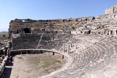 Amfitheater in Milet, Turkije Royalty-vrije Stock Afbeeldingen