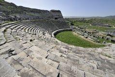 Amfitheater in Miletus, Turkije Royalty-vrije Stock Afbeelding