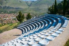 Amfitheater in openlucht op het grondgebied van de tempel Royalty-vrije Stock Afbeelding