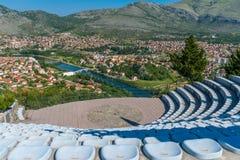 Amfitheater in openlucht op het grondgebied van de tempel Royalty-vrije Stock Fotografie