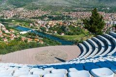 Amfitheater in openlucht op het grondgebied van de tempel Royalty-vrije Stock Foto's