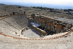 Amfitheater van Hierapolis Stock Foto's