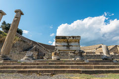 Amfitheater van Pergamos Stock Afbeeldingen