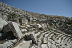 Amfitheater w Sagalossos, wygłupy miasto Fotografia Stock
