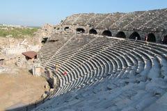 Amfitheatre i sidan, Turkiet fotografering för bildbyråer