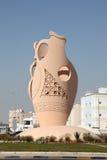 Amfora in een dorp. Bahrein, Midden-Oosten royalty-vrije stock afbeelding