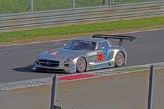 Amg gt3 de sls de Mercedes Photographie stock libre de droits