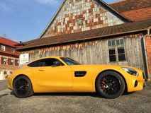 AMG GTS exclusive car. The Mercedes-AMG GT is a 2-door, 2-seat sports car produced by Mercedes-AMG since 2014. Designed as a successor to the SLS AMG, it is the Stock Images
