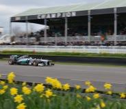 2013 AMG Mercedes Formula 1 carro Fotografia de Stock Royalty Free