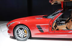 amg rouge de sls de benz de Mercedes Photos stock