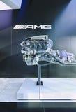 AMG V8 6 3 silnik wystawiający w AMG ujściu, Pekin, Chiny Zdjęcia Stock
