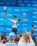 Amgen turnerar av Kalifornien 2019 M?llinje f?r etapp 4 i den Morro fj?rden vinnarear royaltyfri foto