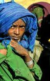Amhara, Äthiopien, am 21. Dezember 2007: Mädchen von einem ländlichen communit lizenzfreies stockfoto