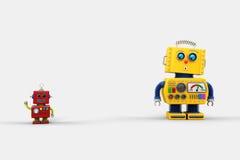 Ami étonné de robot Photographie stock