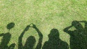 Ami d'ombre sur l'herbe verte Photo libre de droits