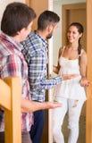 Ami de invitation de couples de famille Image stock