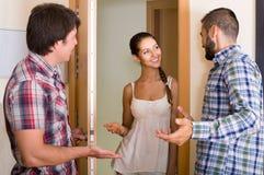 Ami de invitation de couples de famille Images stock