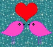 Ami gli uccelli Fotografia Stock Libera da Diritti