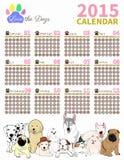 Ami il calendario 2015 set2 del cane Fotografie Stock Libere da Diritti