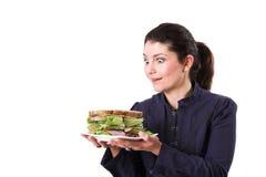 Ami il mio panino fotografia stock