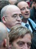 Ami intense de Bernard des françois de hollande Image stock