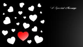 Ami la scheda del biglietto di S. Valentino del cuore Immagini Stock Libere da Diritti