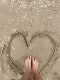 Ami la spiaggia! Immagine Stock