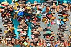 Ami le serrature Fotografia Stock Libera da Diritti