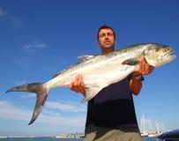 Amia de Garrick Lichia de loquet de fixation de pêcheur photos libres de droits