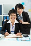 Amiable colleagues Royalty Free Stock Images