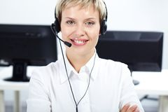 Amiable female secretary Stock Photo