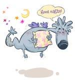 Amiable Night Monster. Cartoon illustration of Amiable Night Monster royalty free illustration