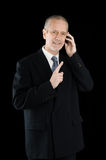 Amiable and Smiling Businessman on Phone Royalty Free Stock Photography