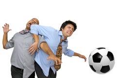 Amiamo il gioco del calcio Fotografia Stock Libera da Diritti
