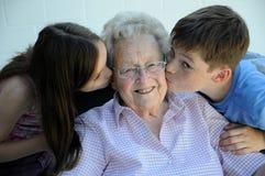 Amiamo la nonna fotografia stock