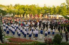 Amiamo la parata di re, Tailandia Fotografia Stock