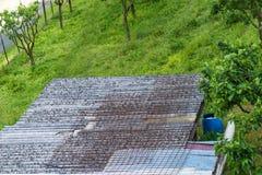 Amiante de détail de toit Image libre de droits