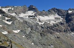Amiante ed il ghiacciaio di Sonadon Immagine Stock